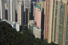 Área residencial de Hong-Kong del pico de Victoria fotografía de archivo