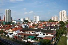 Área residencial de Singapur fotos de archivo libres de regalías