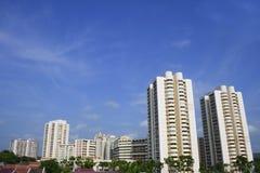 Área residencial de Singapur imagen de archivo libre de regalías