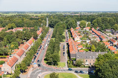 Área residencial de vista aérea de Emmeloord, os Países Baixos Fotos de Stock Royalty Free