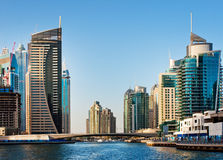A área residencial do porto de Dubai o 4 de junho de 2013 Fotos de Stock Royalty Free
