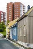 Área residencial Ilsvikora Strondheim Foto de archivo