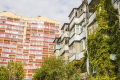 Área residencial krasnodar Foto de archivo libre de regalías