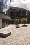 Área residencial moderna imagem de stock royalty free