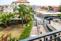 Área residencial na cidade de Giardini-Naxos Imagens de Stock
