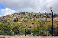 Área residencial na montagem Canaan, Safed, Israel Fotos de Stock