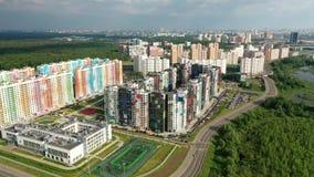 Área residencial nova de Moscou vídeos de arquivo