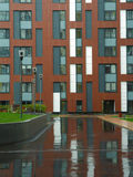 Área residencial nuevamente construida moderna y cómoda Imagenes de archivo