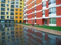 Área residencial nuevamente construida moderna y cómoda Imagen de archivo