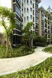 Área residencial verde Imagens de Stock Royalty Free