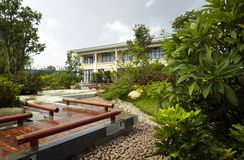 Área residencial verde Fotografia de Stock Royalty Free