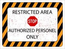Área restricta Imágenes de archivo libres de regalías