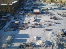 Área restricta del invierno Imagen de archivo libre de regalías