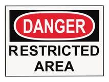 Área restricta del peligro Foto de archivo