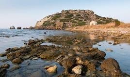 Área rochosa litoral Imagens de Stock