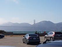 Área soleada de la bahía de puente Golden Gate Imagen de archivo libre de regalías