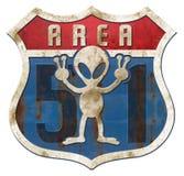 Área 51 Tin Higway Sign Foto de archivo libre de regalías