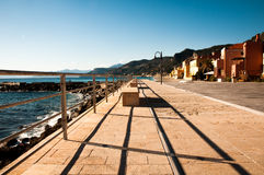 Área turística conocida como varigotti Italia Foto de archivo libre de regalías