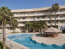 Área turística dos apartamentos em Pilar de la Horadada fotografia de stock royalty free