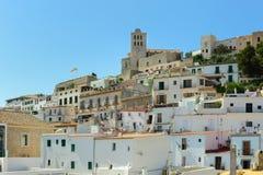 Área velha da cidade de Ibiza imagem de stock royalty free