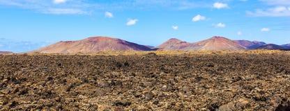 Área volcánica en Lanzarote Imagenes de archivo