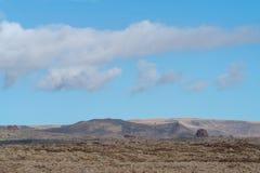 Área vulcânica árida, ilha de Lanzarote, canário, Espanha imagem de stock