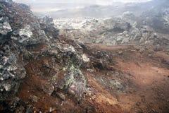 Área vulcânica foto de stock royalty free