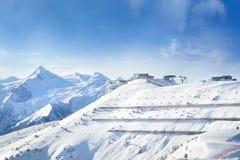 A área Zell am do esqui considera Kaprun, Áustria Imagens de Stock