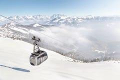 A área Zell am do esqui considera/Kaprun, Áustria Imagens de Stock