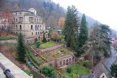 Áreas adyacente al castillo en Heidelberg Fotos de archivo libres de regalías