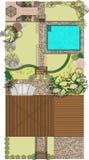 Áreas de reconstrucción para el jardín ilustración del vector