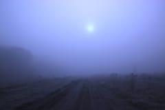Áreas desertas na névoa de veludo Foto de Stock Royalty Free