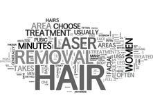 Áreas do corpo que pode ser tratado com a nuvem da palavra da remoção do cabelo do laser ilustração royalty free