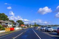 Áreas suburbanas de Auckland, Nova Zelândia imagem de stock royalty free