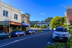 Áreas suburbanas de Auckland, Nova Zelândia fotos de stock
