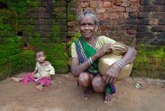 Áreas tribais de Orissa Foto de Stock