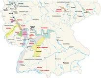 áreas Vinho-crescentes Alemanha ilustração stock