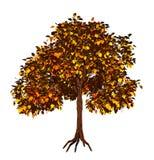 Árvore 3d amarela Foto de Stock