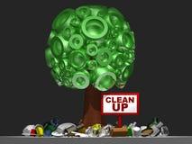 a árvore 3D com limpa Imagem de Stock Royalty Free
