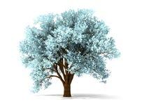 árvore 3d invernal Fotografia de Stock