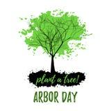 Árvore abstrata com folha verde Fotografia de Stock