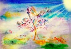 Árvore abstrata da mola fotografia de stock