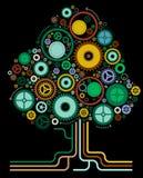 Árvore abstrata da roda denteada Fotos de Stock Royalty Free
