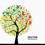Árvore abstrata do coração Imagens de Stock