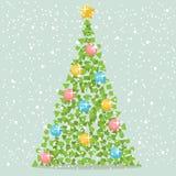 Árvore abstrata do papel do Natal ilustração stock