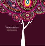 Árvore abstrata do vetor Fotos de Stock Royalty Free