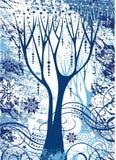 Árvore abstrata do xmas Fotografia de Stock