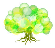 Árvore abstrata dos círculos ilustração do vetor