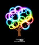 Árvore agradável ilustração royalty free