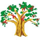 A árvore AJUDA à fita ilustração royalty free